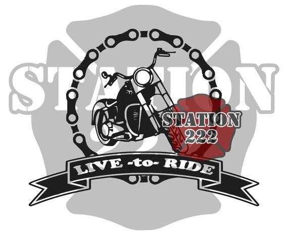 Live to Ride Motocicleta gráfico SVG archivo de corte