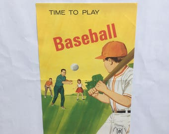 Vintage Baseball Poster from National Sporting Goods Association