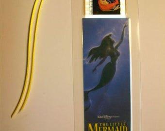 LITTLE MERMAID  Disney Rare Memorabilia Movie Film Cell Bookmark …