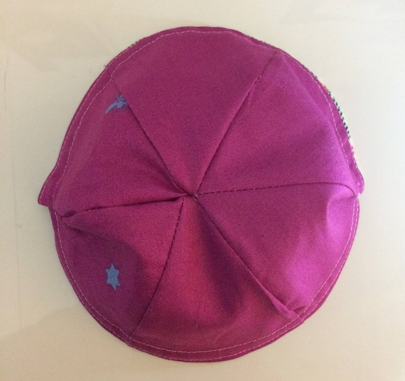 Easy Reversible Kippah Pattern Sewn Kippot Yarmulke One Etsy