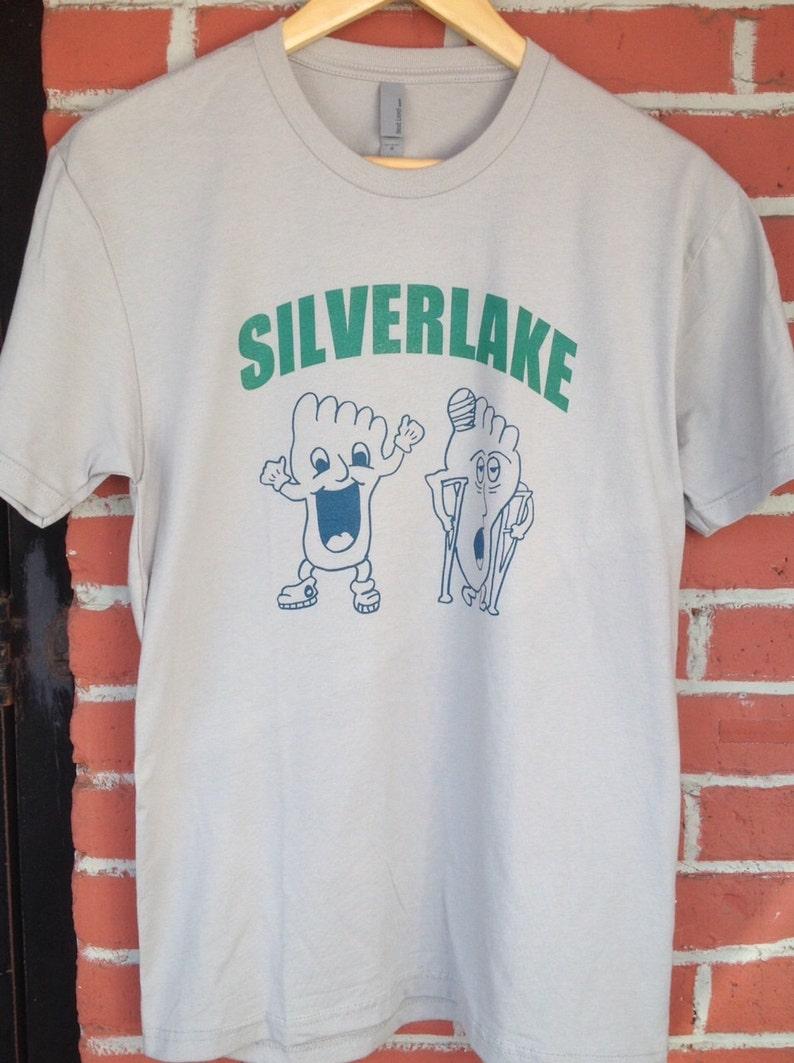0b442fad8 Silverlake Happy Foot Sad Foot Unisex Sceen Printed T Shirt | Etsy
