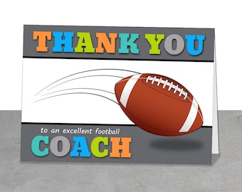 Gifts under 5 dollars Football Coach Team Thank You Football Stars Best Coach Gift Greeting Card Coach Learn Football Football
