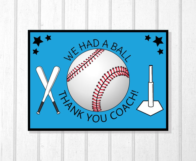 T Ball Greeting Card T Ball Stand Downloadable File Printable Card Tee Ball Party T Ball Coach Little League T-Ball Team Coach Gift