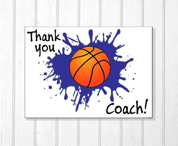 Basketball Thank You Coach Basketball Coach Thanks Thank You Etsy