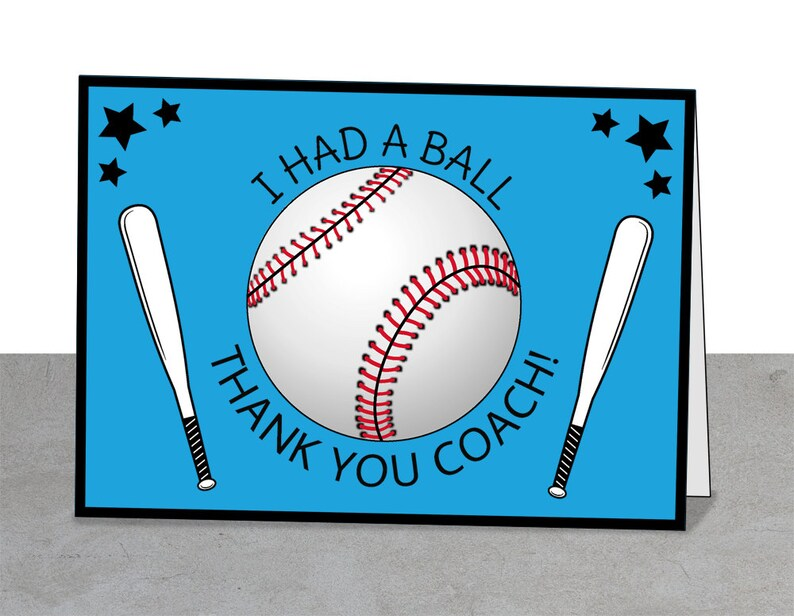 I Had A Ball Baseball Card Coach Gift Baseball Mentor Player Individual Gift Baseball Party Coach Card Baseball Thank You