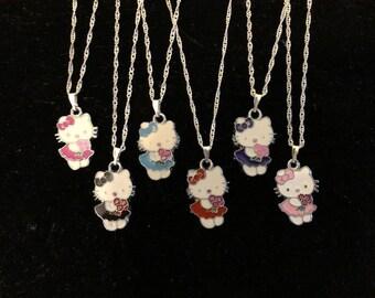 NEW 8 pcs Jewelry Making Metal Figure Pendant Charms For Purple Hello Kitty SET