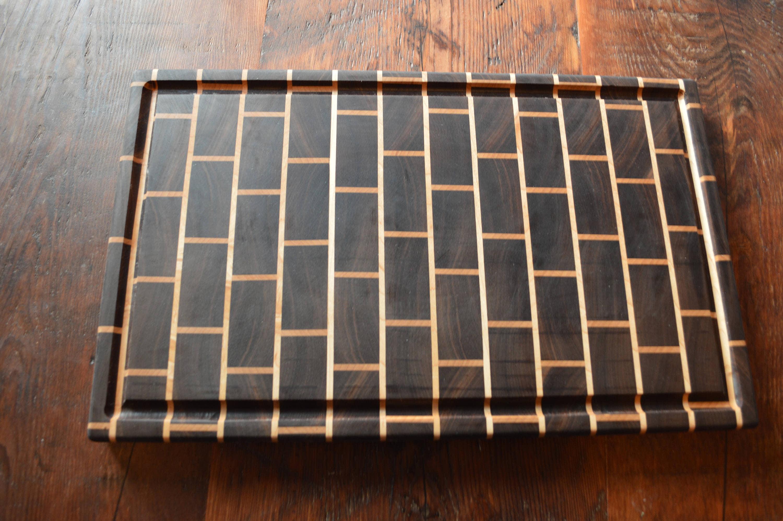Walnut Maple Brick Pattern End Grain Butcher Block