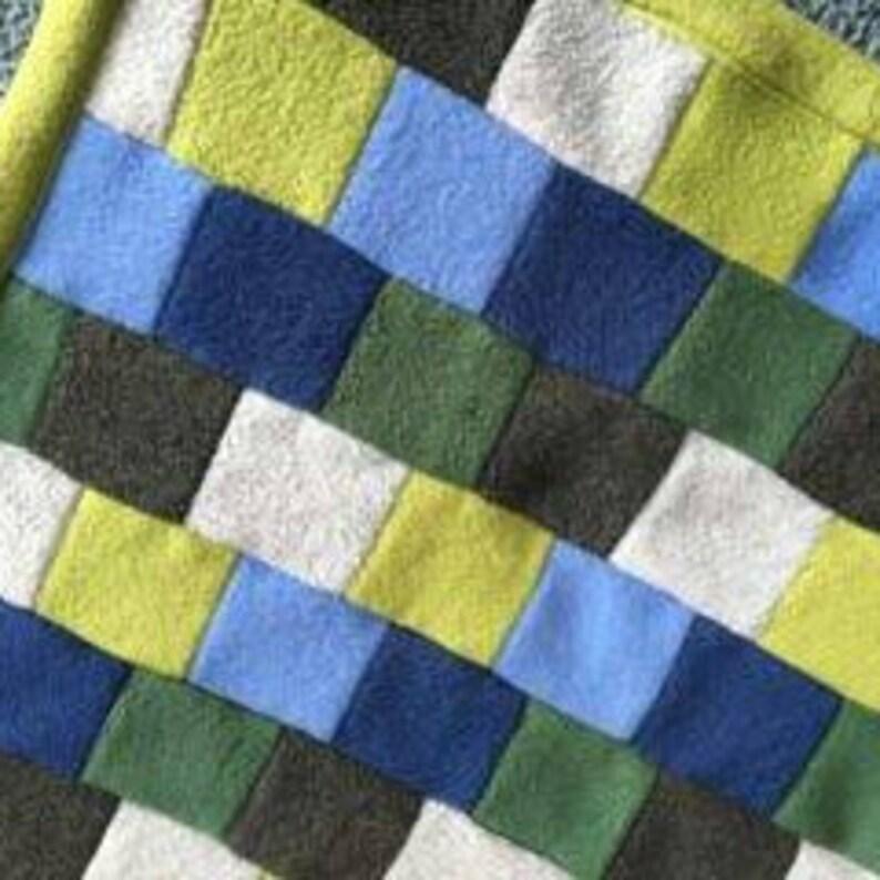 Blue and green fleece baby blanket