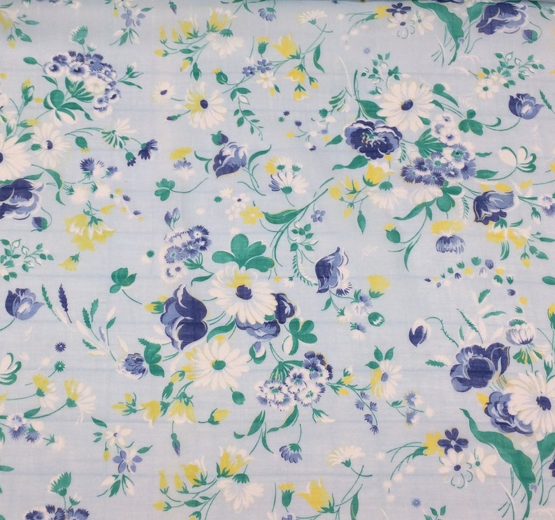 Spring Floral Print Dress Fabric Cotton Voile Fashion Craft Etsy