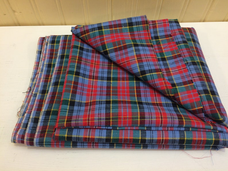 Woven Plaid Dress Fabric Cotton Shirt Fashion Craft Cloth Tartan Quilt Lampshade Design Reference Material