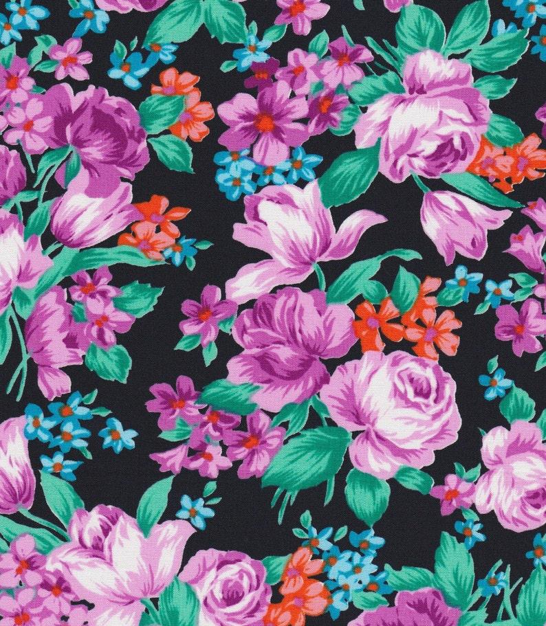91a18ef77d7d2 Floral Dress Fabric Cotton Poplin Blouse Cloth Roses Fashion
