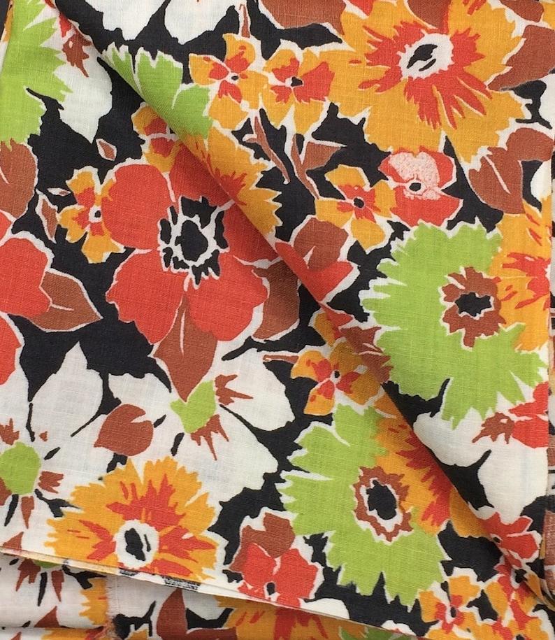 Cottage Floral Print Dress Fabric Cotton Apron Blouse Shirt Etsy
