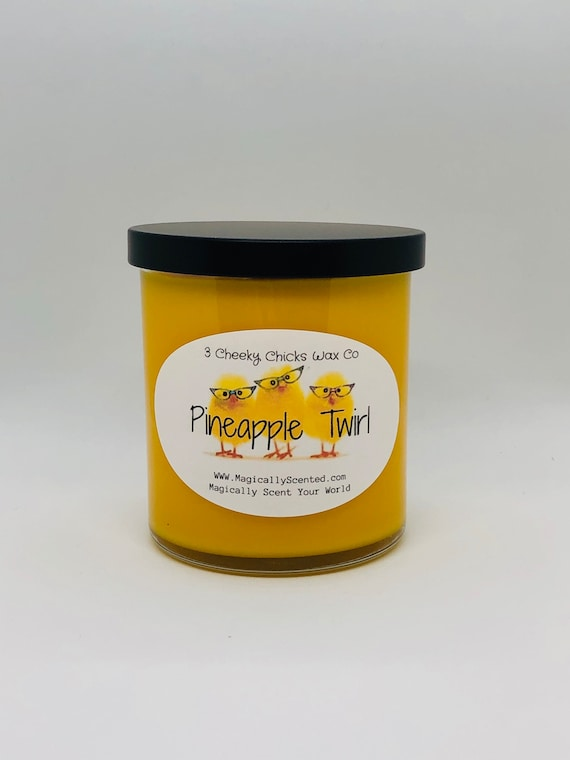 Pineapple Twirl Candle