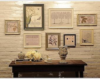 Foto Frame Set, Set di 8 Vintage Photo frame Collection, parete creativa decorazione (RD8L)