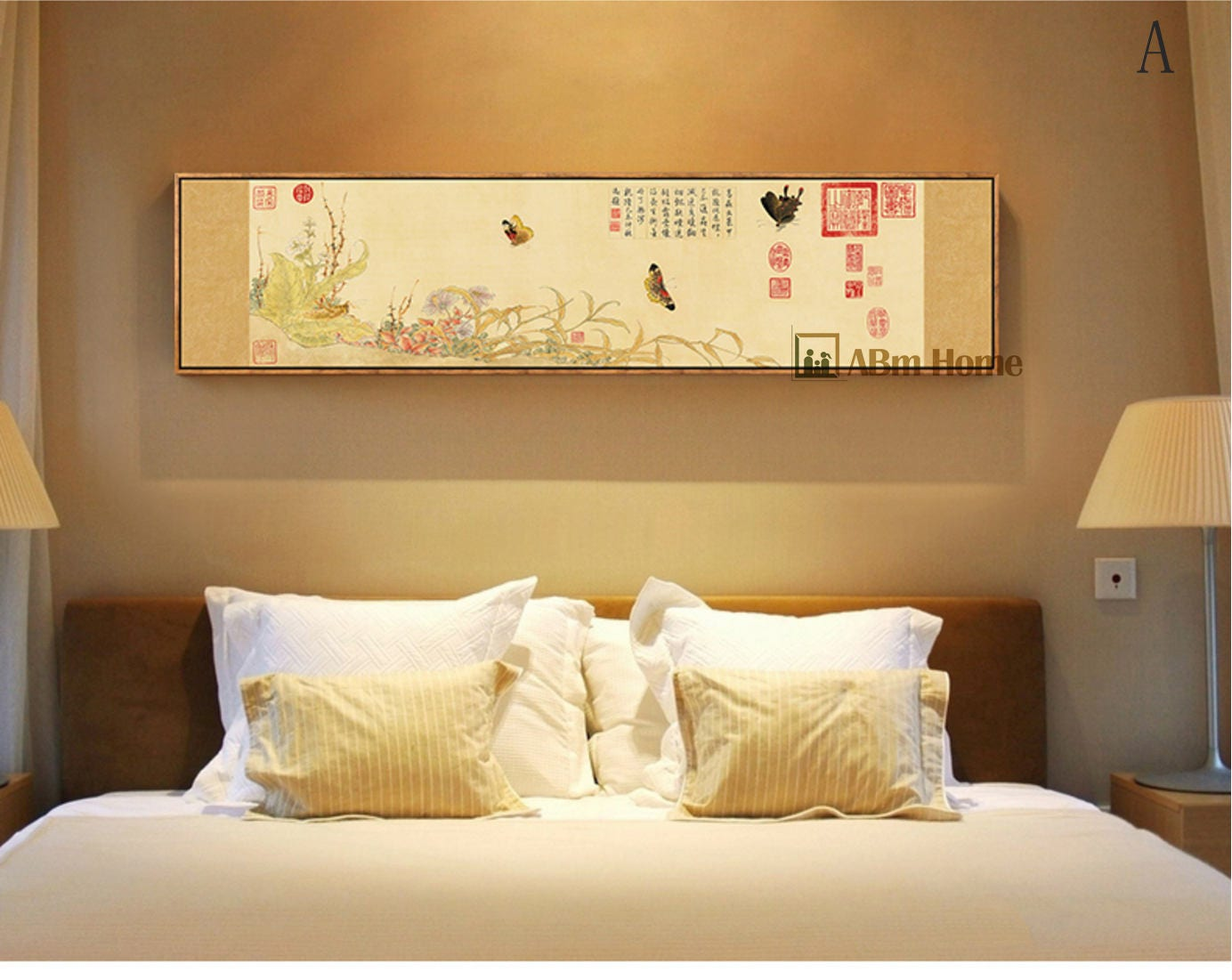 affiche murale gab fine art mural grande toile encadr e etsy. Black Bedroom Furniture Sets. Home Design Ideas