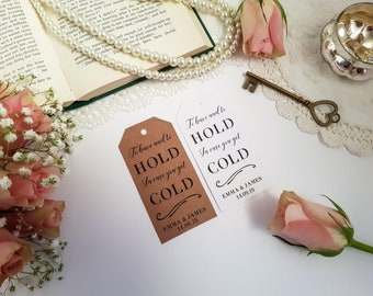 To Have And To Hold In Case You Get Cold - Scarf Tags - Winter Wedding Tags - Blanket Favor Tags - Pashmina Tags - Winter Wedding