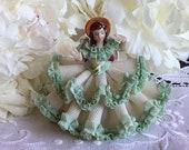 Dresden Karl Heinz Klette Original Germany seated crinoline lady figurine Southern Belle