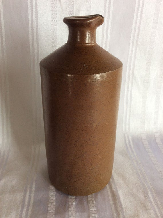Antique 1800 Bourne Denby Ink Bottle Container Jar Salt Glaze Etsy
