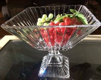 Beautiful pedestal open dish comport or fruit bowl centerpiece