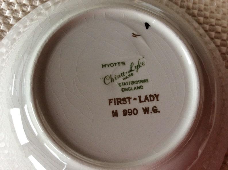 Myotts Set China-Lyke ware First Lady pattern M 990 WG  35 pieces