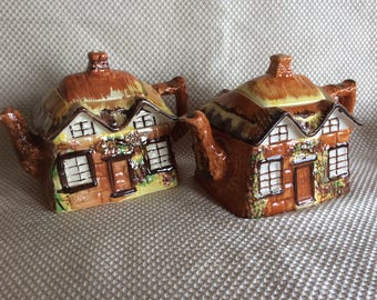 Vintage Cottage Ware Price Bros Kensington teapot ceramic novelty England Ye Olde Cottage stoneware