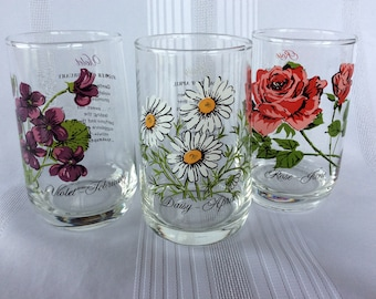 CHOICE Flower of the month tumblers February April June 12 oz