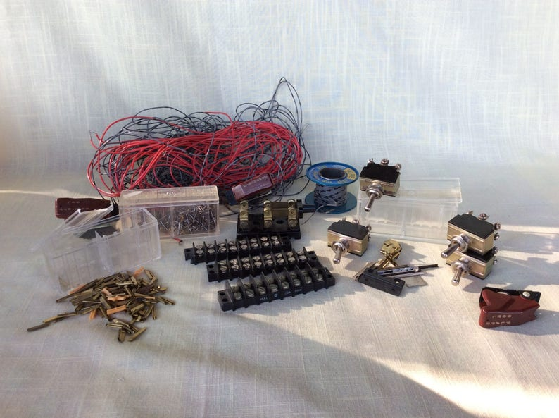 Vintage hobby toy train electrical wiring parts connectors switch loco kit