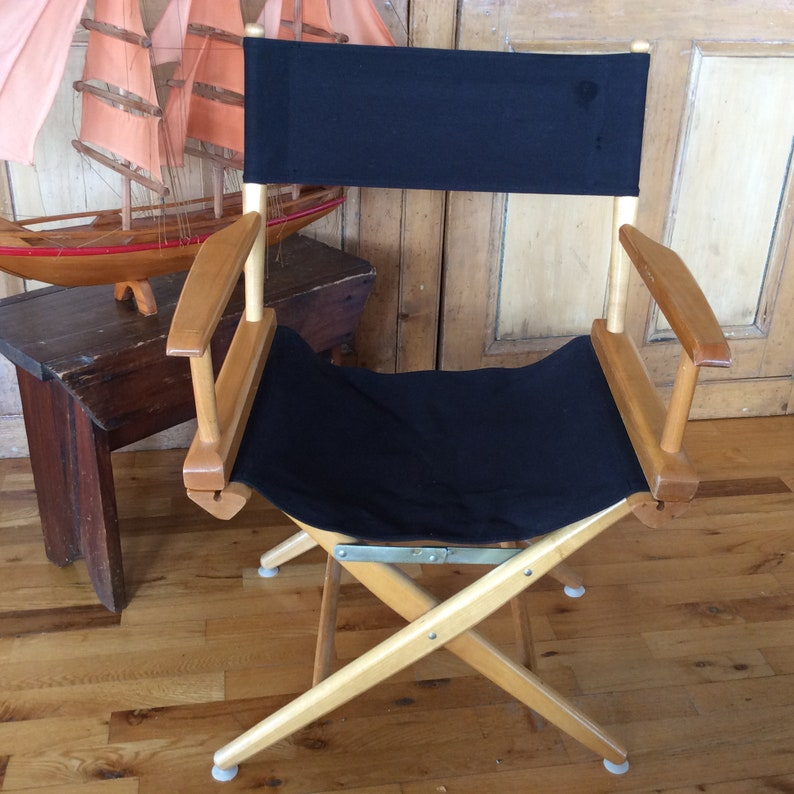 Authentic Director Chair By Telescope Furniture With Canvas Etsy