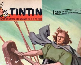BD recueil Tintin weekly Super journal des Jeunes hebdomdaire no 15 Comics