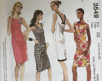 e6826209da0 Sewing pattern women s misses  sleeveless straight dress