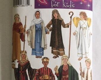 High Quality Sewing Pattern For Christmas Nativity Costume Childrenu0027s, Simplicity 4797,  Size Small Medium Large, Angel, Shepherd, Wise Men, Joseph, Mary