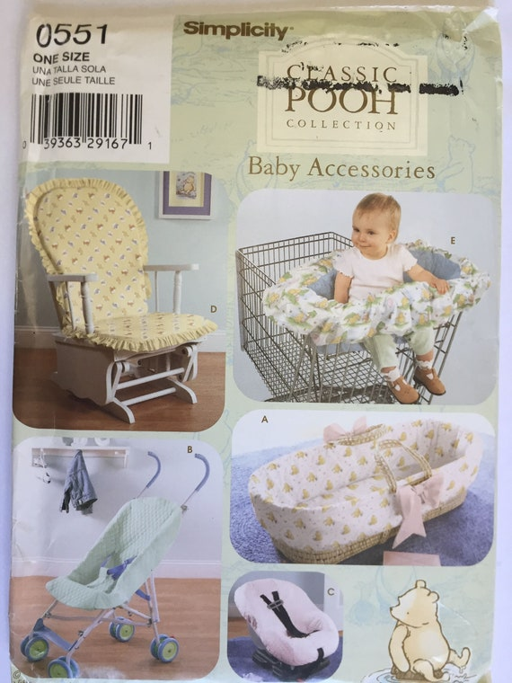 Phenomenal Shopping Cart Cover Pattern Basket Liner Stroller Cover Pattern Glider Chair Cover Simplicity 0551 Classic Pooh Spiritservingveterans Wood Chair Design Ideas Spiritservingveteransorg