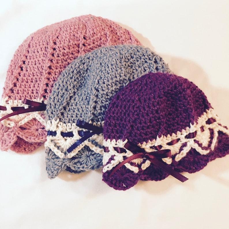 Crochet Hat Pattern Bavarian Crochet Crochet Baby Bonnet Etsy