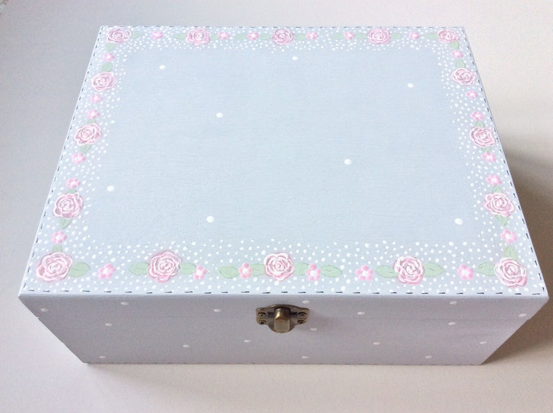 Personalised Keepsake Box Personalised Jewellery Box Large Keepsake Box Trinket Box Christening Keepsake Box Birth Keepsake Box