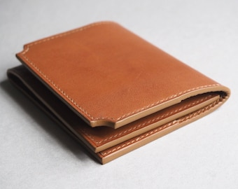 Calf leather card holder, wallet, leather wallet, leather card holder, wallet, leather gift, personalised leather, edc