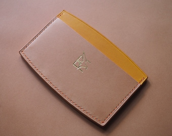 Minimalist curved card holder, leather wallet, purse, leather card holder, wallet, leather gift, personalised leather, edc