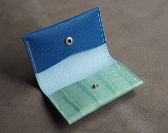 Genuine alligator card holder, wallet, leather wallet, leather card holder, wallet, leather gift, personalised leather, edc
