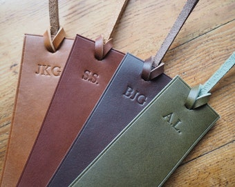 Personalised Bookmark, name Bookmark, leather bookmark, leather embossed bookmark, reading bookmark, handmade leather gift