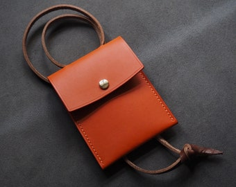 Travel wallet, leather wallet, festival lanyard, travel bag, necklace, festival outfit, neck wallet, leather card holder,leather gift