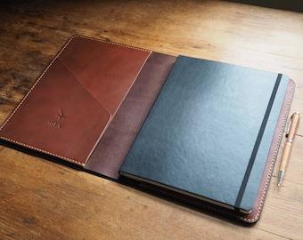 Italian leather journal, extra large Moleskine cover, drawing journal,  writing journal, Moleskine cover, extra large notebook, leather gift