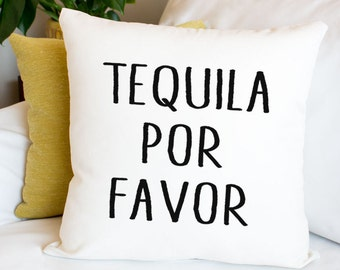 Pillow Cover, I Love Tequila Gifts Mexican Decorative Throw Pillow Cover Pillowcase with Funny Sayings 18x18