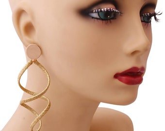 Gold Spiral Twist Earrings