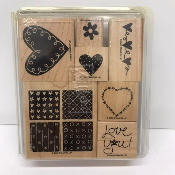 Stampin Up ALL NATURAL Set of 6 Decorative Rubber Stamps Retired 2003