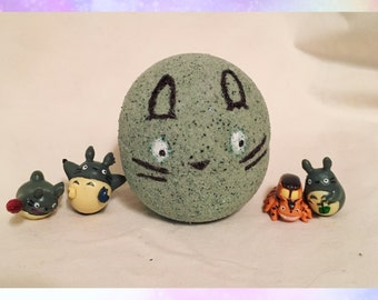 Totoro Bath Bomb with kawaii surprise Totoro Toy Inside!
