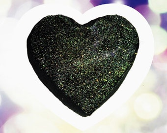 Anti-Valentine black bath bomb with glitter. ( LARGE and will not stain your skin or tub! Valentine's Day)
