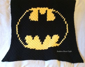 Batman Blanket Crochet Etsy