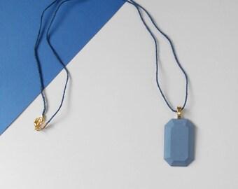 Blue Concrete Necklace, cement necklace, concrete jewelry, cement jewelry, modern necklace, beton, concrete pendant, concrete jewellery
