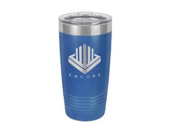 Personalized Blue Polar Camel 20oz, Monogrammed Vacuum Cup, Custom Logo Travel Mug