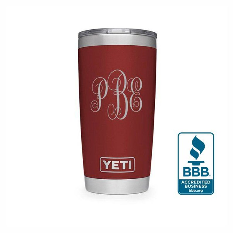 5dfca652536 REAL YETI 20 oz. Laser Engraved Stainless Steel Brick Red Yeti Rambler  Personalized Vacuum Insulated YETI