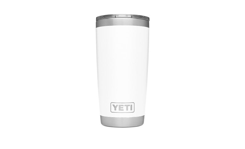 64002882fa9 REAL YETI 20 oz. Laser Engraved White Stainless Steel Yeti Rambler  Personalized Vacuum Insulated YETI